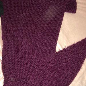 Purple mermaid tail blanket, adult sized